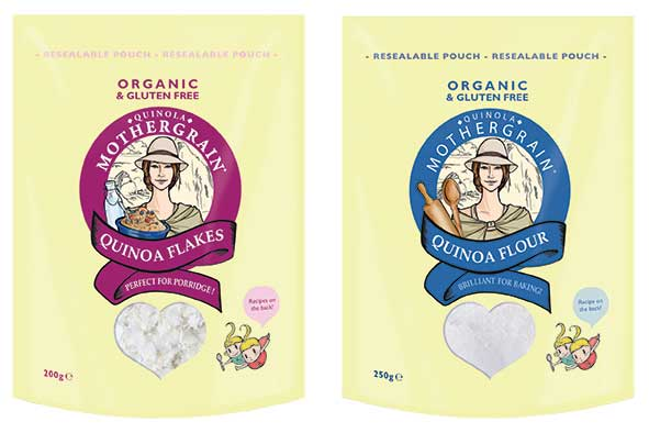 Our newly released quinoa flour and flakes packs