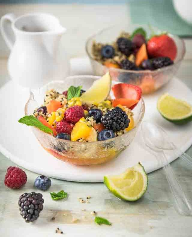 quinoa fruit bowl