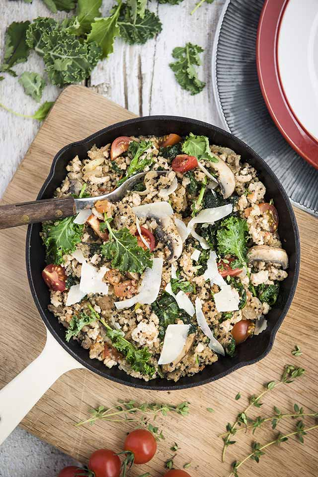 One-pan-Chou-kale-quinoa