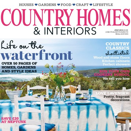 Parution dans le magazine Country Homes & Interiors 2013