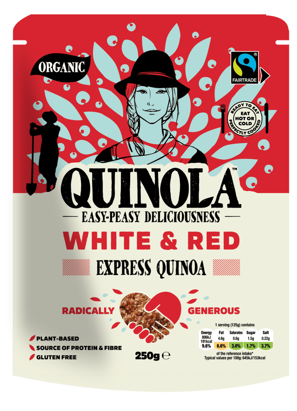 White and Red Ready to Eat Quinoa