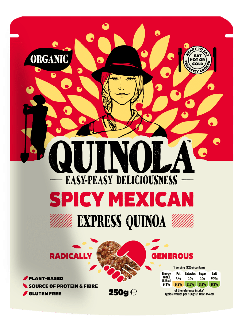 Ready to eat spicy mexican quinoa