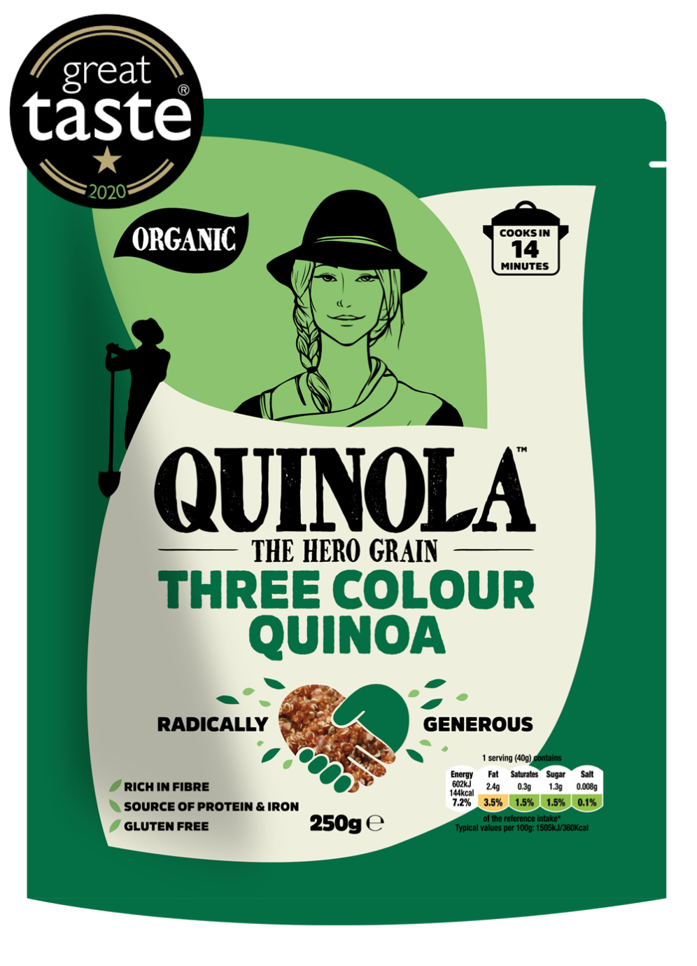 Three Colour Quinoa, Great Taste Award 2020 with 1 star
